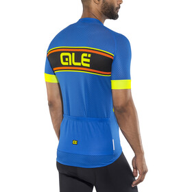 Alé Cycling Solid Vetta Short Sleeve Jersey Men blue-fluo yellow